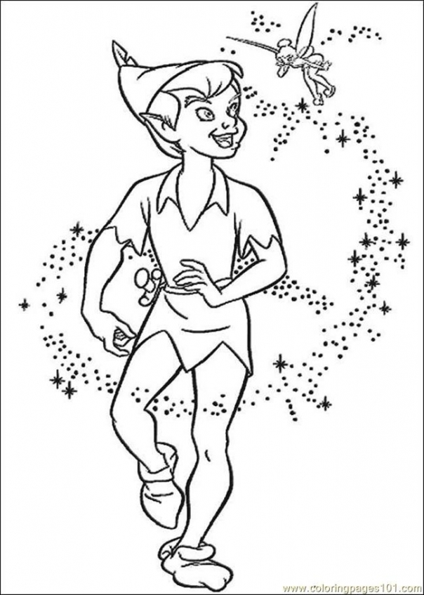 Peter Pan Coloring Book Pages   hst3x