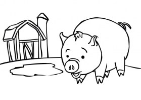 Pig Coloring Pages for Kids 16486