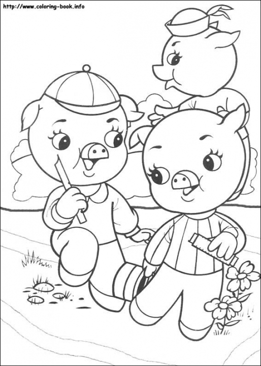 Pig Coloring Pages for Kids   271w9
