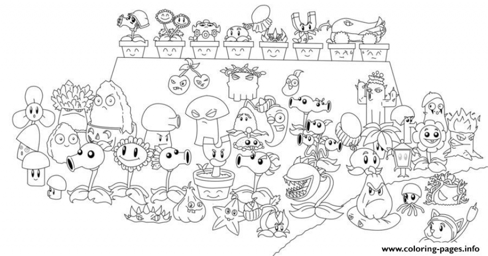 20+ Free Printable Plants Vs. Zombies Coloring Pages