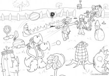 Plants Vs. Zombies Coloring Pages to Print for Kids 76182