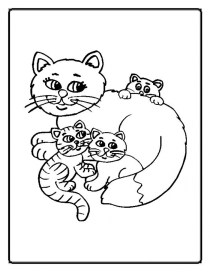 Printable Cute Baby Kitten Coloring Pages 7dfg1