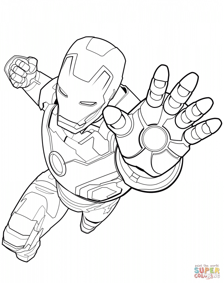 War Machine A4 Avengers Marvel Coloring Pages Printable - Coloring ... | 960x758