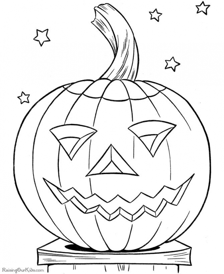 Get This Scary Pumpkin Coloring Pages for Halloween 88310