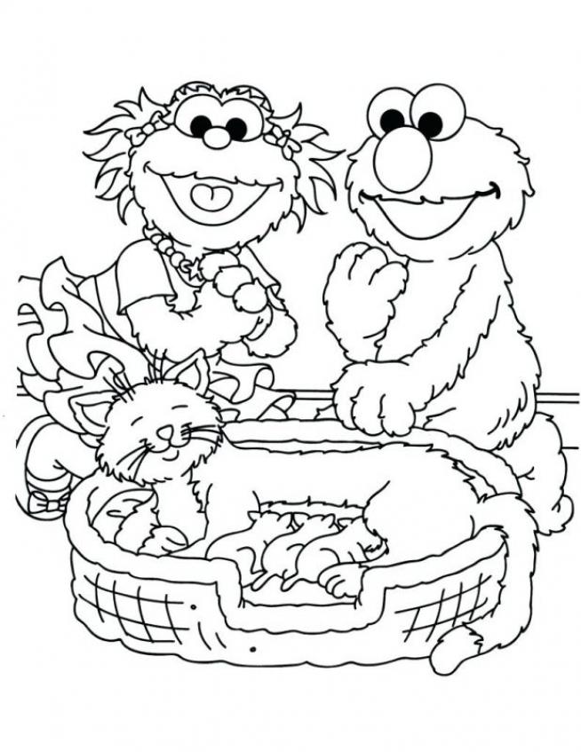 Sesame Street Coloring Pages Kindergarten   62195