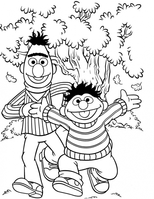 Sesame Street Coloring Pages Kindergarten   64996