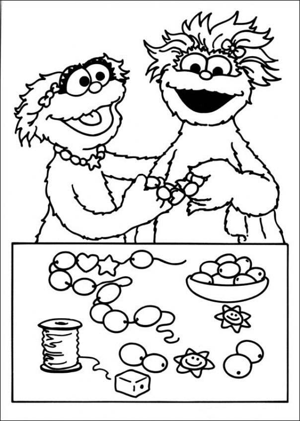 Get This Sesame Street Coloring Pages To Print X906n !