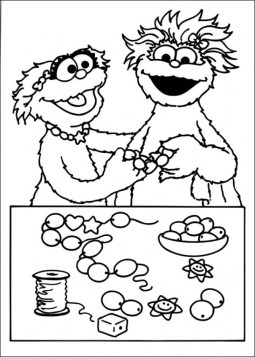 Sesame Street Coloring Pages to Print x906n