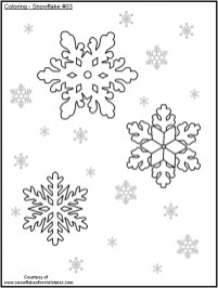 Snowflake Coloring Pages for Preschoolers 37591