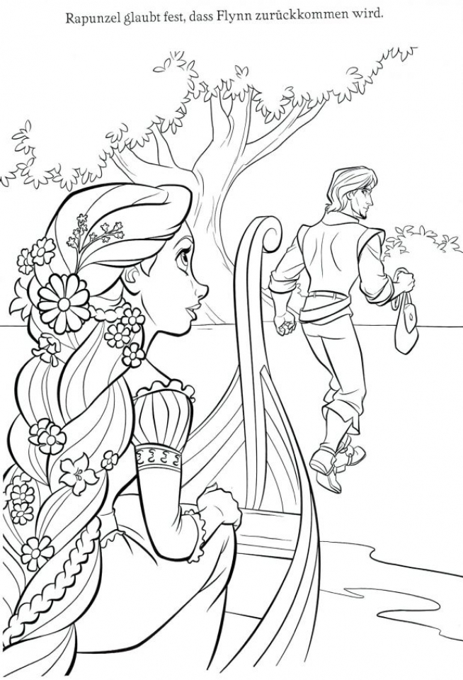 Get This Tangled Coloring Pages Disney Tcl31