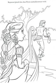 Tangled Coloring Pages Disney tcl31