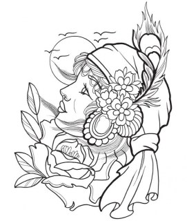 tattoo design coloring pages 31526