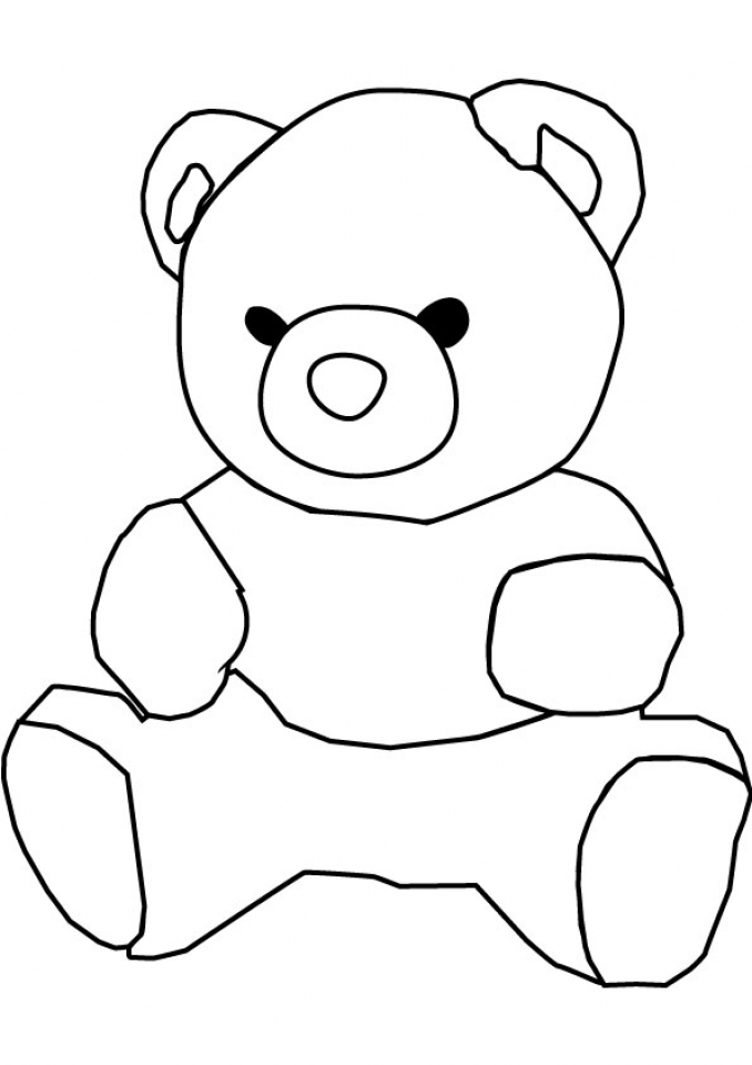 Teddy Bear Coloring Pages to Print   716ag