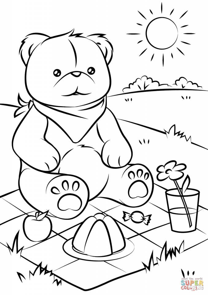 teddy bear picnic coloring pages   7fhal