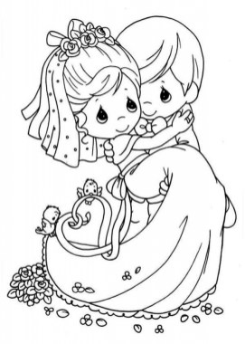 Wedding Coloring Pages Printable wa73m