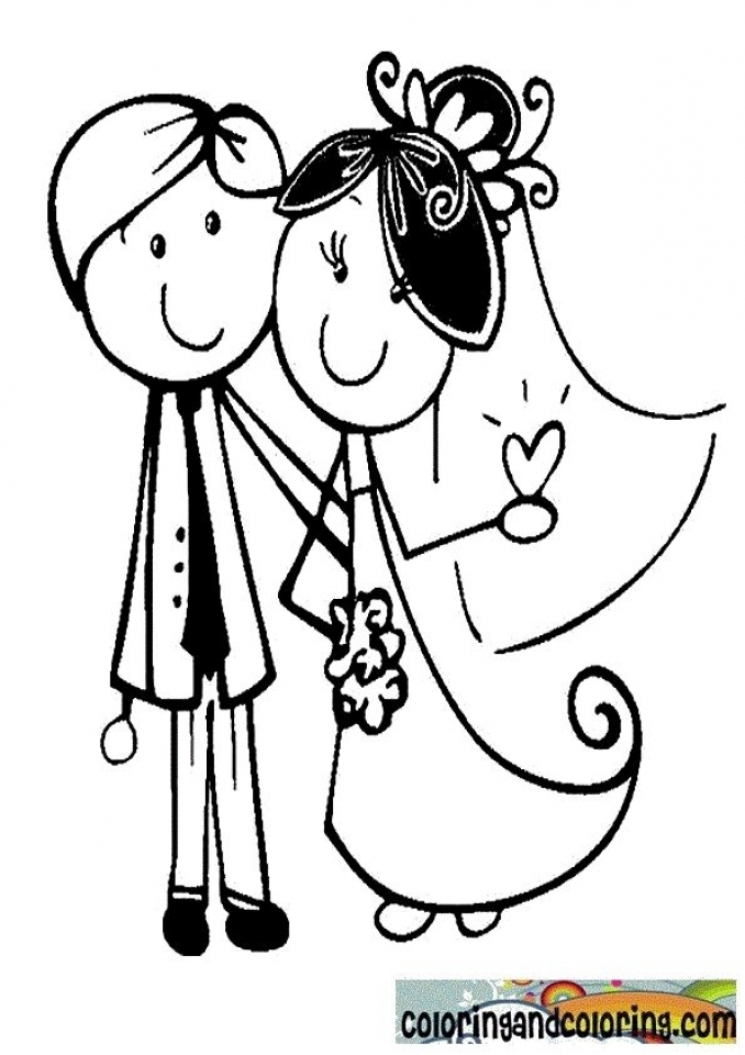 Wedding Bell Coloring Pages