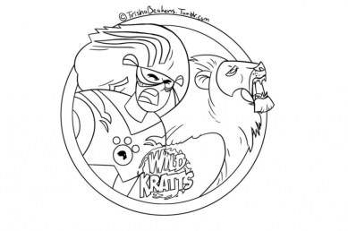Wild Kratts Coloring Pages Online t415s