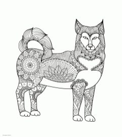 Adult Coloring Pages Animals Dog