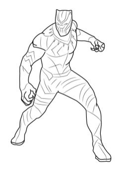 Black Panther Coloring Pages Free fgh6