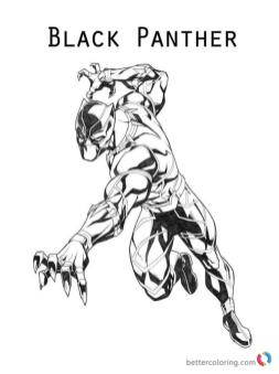 Black Panther Coloring Pages Printable lge5