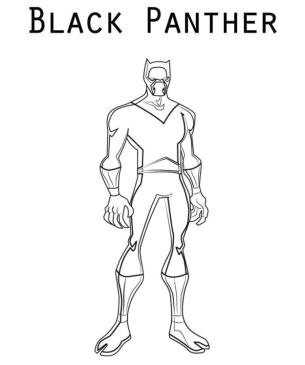 Black Panther Coloring Pages esy1
