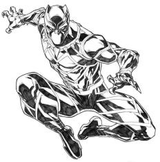 Black Panther Coloring Pages for Kids qts2
