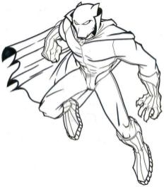 Black Panther Coloring Pages for Kids spr3