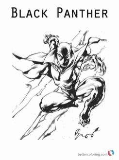 Black Panther Coloring Pages to Print sqt7