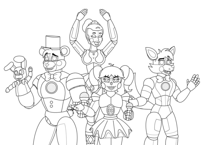 Five Nights at Freddys coloring pages op97