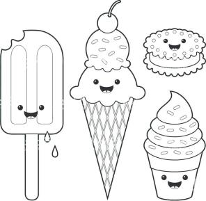 Ice Cream Coloring Pages for Toddlers 339c