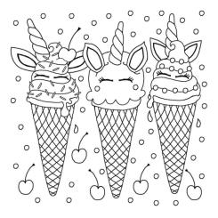 Ice Cream Coloring Pages for Toddlers 554n