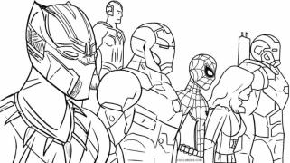 Marvel Black Panther Coloring Pages Avenger hdi2