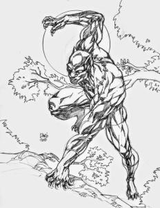 Marvel Black Panther Coloring Pages nit9