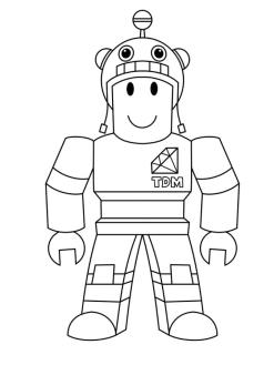 Roblox Coloring Pages For Kids tdm6