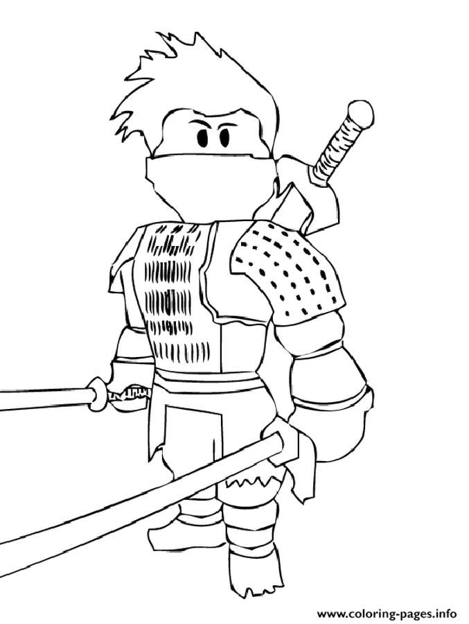 Get This Roblox Coloring Pages to Print nij7
