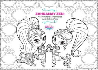 Shimmer and Shine Coloring Pages Printable trf8