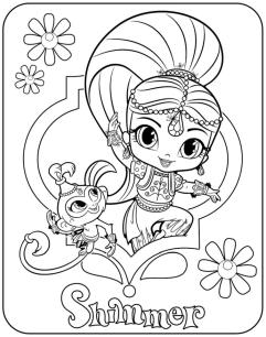 Shimmer and Shine Coloring Pages for Girls hjk5