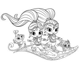 Shimmer and Shine Coloring Pages for Girls tmn9