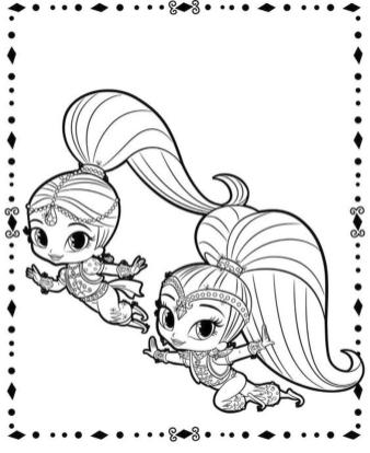 Shimmer and Shine Coloring Pages for Kids oot2