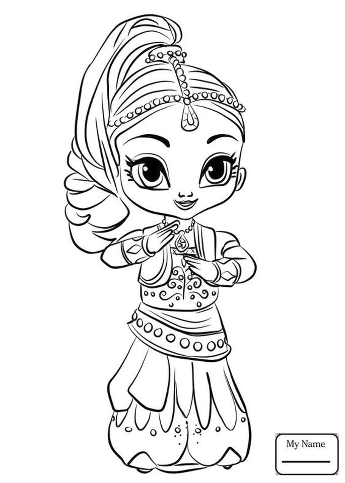 Shimmer and Shine Coloring Pages for Kids yyn4