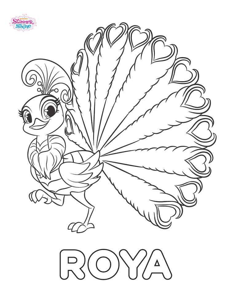Shimmer and Shine Coloring Pages itr8