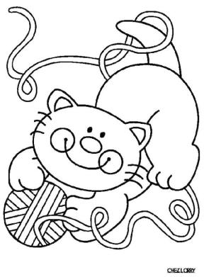 cat coloring pages free gf61