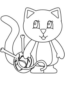 cat coloring pages printable wv481