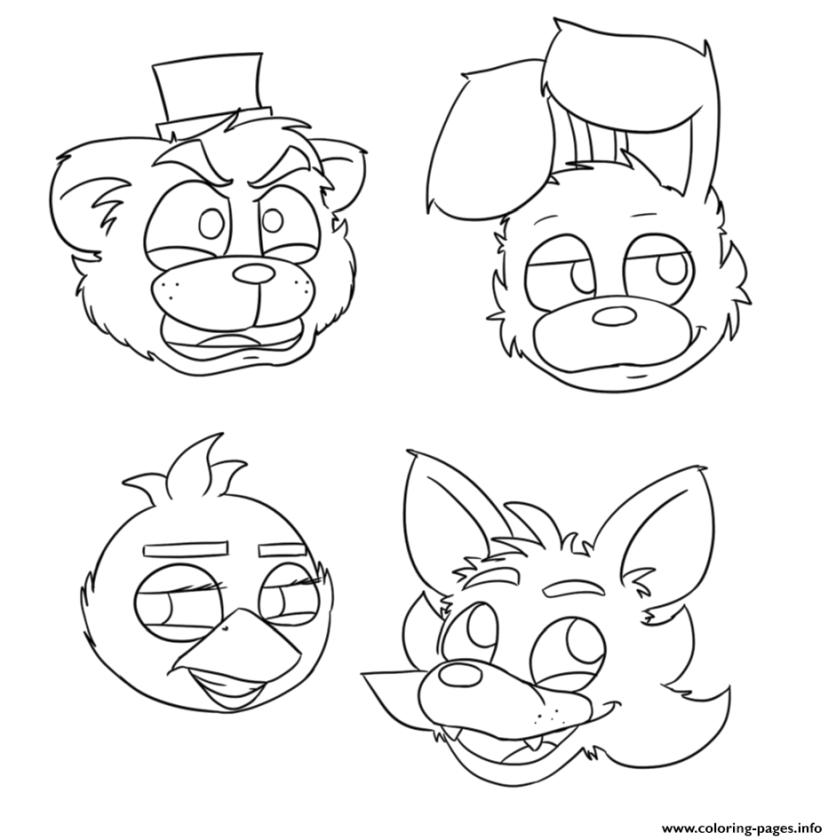 fnaf coloring pages free aq57