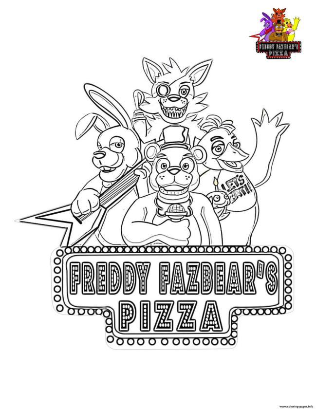 Get This fnaf coloring pages free vz74