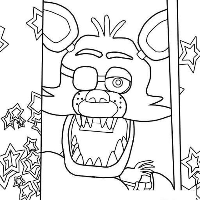 fnaf coloring pages to print pg83