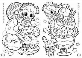 Adorable Cute Little Girl Kawaii Coloring Pages