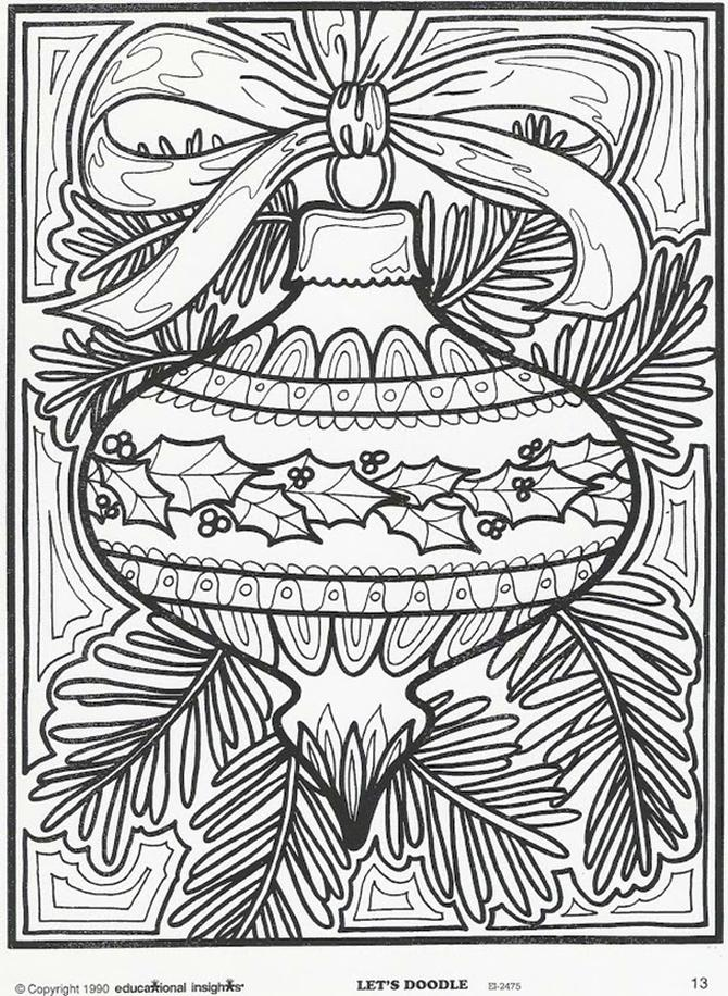 Get This Adult Christmas Coloring Pages Free Tree Ornament ...