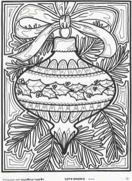 20 free printable adult christmas coloring pages  everfreecoloring