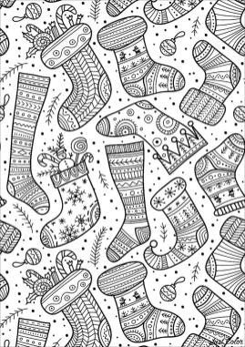 20 free printable adult christmas coloring pages